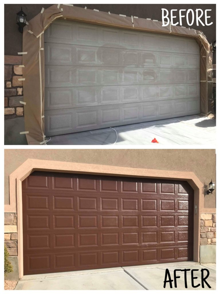 garage door collage